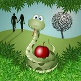 Wąż z owoc grzech Obraz Stock