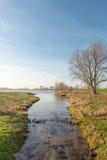 Wąscy strumieni przepływy w wielką rzekę Obraz Stock