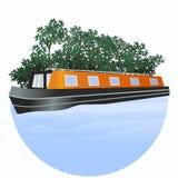 Wąska łódź Zdjęcia Royalty Free
