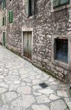 wąska ulica średniowieczna obrazy stock