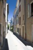 Wąska ulica i budynki Fotografia Stock