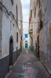 Wąska ulica w Medina Essaouira Obraz Stock