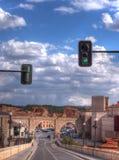 Wąska ulica w Teruel obraz stock