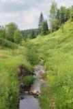 Wąska zatoczka między wzgórzami Zdjęcia Royalty Free