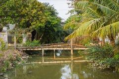 Wąski kanał Mekong rzeka zdjęcie stock