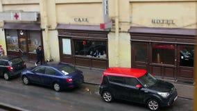 Wąski ulicy St Petersburg zdjęcie wideo