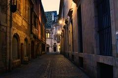 Wąskie średniowieczne ulicy i mikstura architektura style Zdjęcia Royalty Free