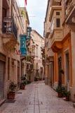 Wąskie ulicy Valletta miasteczko fotografia royalty free