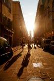 Wąskie ulicy w Ładnym Zdjęcia Stock