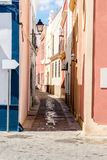 Wąskie wijące ulicy Obraz Royalty Free