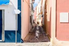 Wąskie wijące ulicy Fotografia Royalty Free