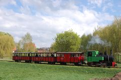 Wąskiego wymiernika kontrpary kolei pociąg Zdjęcia Royalty Free