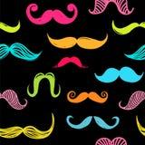 Wąsy bezszwowy tło Zdjęcie Stock