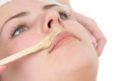 Wąsy depilacja zdjęcia stock