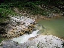 Wąwóz i strumień Zdjęcie Stock