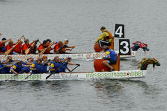 wąwóz rocznego łódkowatego smoka fest wąwozu regatta Obrazy Royalty Free