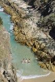 Wąwóz, Stradbroke wyspa zdjęcie royalty free
