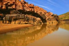 Wąwóz w zachodniej australii obraz stock
