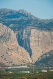 Wąwozów brzęczenia w północno-wschodni Crete, Grecja Zdjęcie Royalty Free