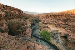 Wąwozu des Berrem, Midelt, Maroko zdjęcie stock