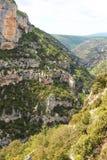 Wąwozy De Los angeles Nesque w południe Francja Zdjęcie Royalty Free