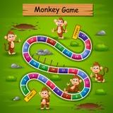 Węże i drabiny gry małpy temat ilustracja wektor