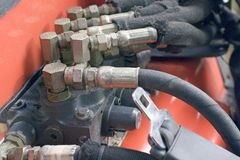 węże koparki hydrauliczne Fotografia Stock
