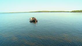 WĘDKARZ NA jeziorze zdjęcie wideo