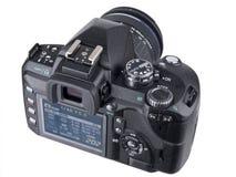 wędkujący z powrotem kamery dslr lcd widok obrazy stock
