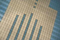 Wędkujący zakończenie złocista Środkowa plac fasada Obraz Royalty Free