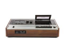 wędkuje audio kasety niskiego gracza odgórnego widok rocznika Fotografia Stock