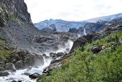 Wędrówka w Folgefonna w Norwegia obraz stock