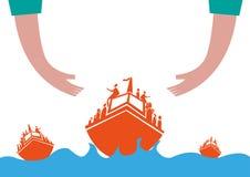 Wędrowny kryzysu pojęcie royalty ilustracja