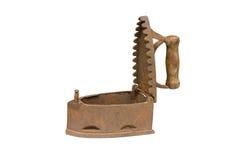 węgiel drzewny żelaza pokrywkowy stary rozpieczętowany Obraz Stock