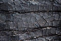 węgiel drzewny tekstury drewniany tło Zdjęcia Royalty Free