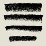 Węgiel drzewny tekstury tła sztandar, grunge tło Zdjęcia Royalty Free