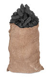 Węgiel w dużym worku Fotografia Stock