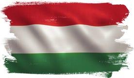 Węgier flaga ilustracja wektor