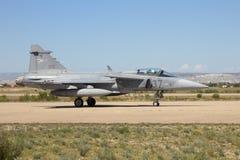 Węgierska siły powietrzne Saab Gripen Zdjęcia Royalty Free