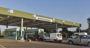 Węgierski customs punkt kontrolny w Beregsurany, Węgry Obraz Royalty Free