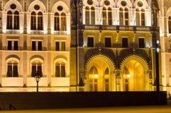 Węgierski parlamentu budynek z jaskrawym i pięknym illu Fotografia Royalty Free