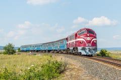 Węgierski passanger pociąg Zdjęcia Stock