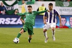 Węgierskiego finału rozgrywek pucharowych futbolowy dopasowanie między Ujpest FC i Ferencvarosi TC Obrazy Stock