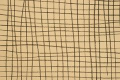 Węgla drzewnego deseniowy rysunek na koloru żółtego papieru tła teksturze Obrazy Stock