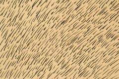 Węgla drzewnego deseniowy rysunek na koloru żółtego papieru tła teksturze Obrazy Royalty Free