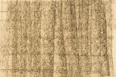 Węgla drzewnego deseniowy rysunek na koloru żółtego papieru tła teksturze Obraz Stock