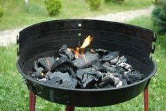 Węgla drzewnego ogień Zdjęcia Royalty Free