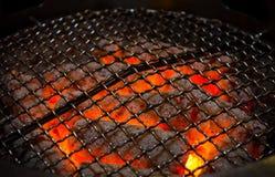 Węgla drzewnego ogień zdjęcie royalty free