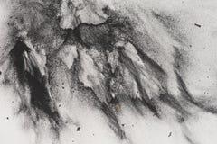 Węgla drzewnego proszek na papierze obrazy stock