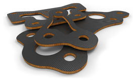 Węgla włókna części z balsowego drewna sednem Obrazy Royalty Free